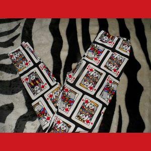 Deck Of Cards Leggings King Queen Jack Diamond